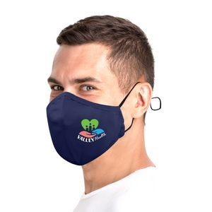 3 Ply Cotton Fitted Mask With Full Color Imprint